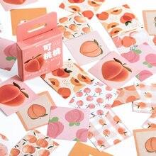 46 шт/лот милые персиковые наклейки для автомобиля чемодан Декор