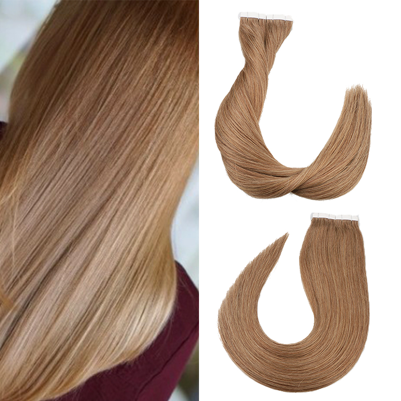 Toysww Tape In Hair Extensions Human Hair 50g/100g Per Pack Silky Straight Tape On Hair PU Seamless Skin Weft