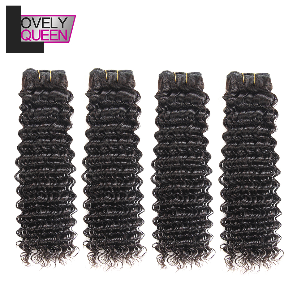Peruvian Deep Wave Bundles Weave 4 Bundles Human Hair Weavings Non Remy Grade Natural Color