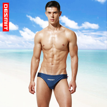 New Products deiit Men's Sexy Swim Briefs Solid Color Low-Rise Beach Swimming Trunks S3933