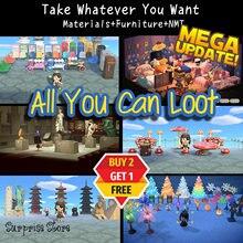 Animal Crossing New Horizon-isla de ensueño, materiales, campanas minerales, billetes de millas, DIY, recetas/isla del botín del tesoro