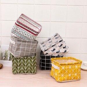 1PCS Foldable Desktop Storage Basket Sundries Storage Box Underwear Cosmetic Organizer Jewelry Scarf Socks Storage Basket Bags