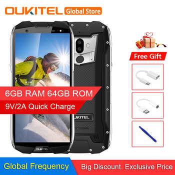 Original OUKITEL WP5000 IP68 Waterproof Smartphone Android 7.1 Helio P25 Octa Core 6GB RAM 64GB ROM 5200mAh 9V/2A Mobile Phone - DISCOUNT ITEM  40 OFF Cellphones & Telecommunications