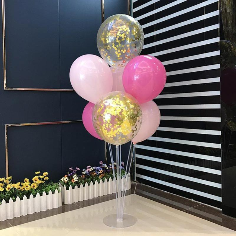 <font><b>7</b></font> <font><b>Tubes</b></font> <font><b>Balloons</b></font> <font><b>Stand</b></font> <font><b>Balloon</b></font> <font><b>Holder</b></font> Column Confetti <font><b>Balloon</b></font> Baby Shower Kids Birthday DIY Party Wedding Decoration Supplies image