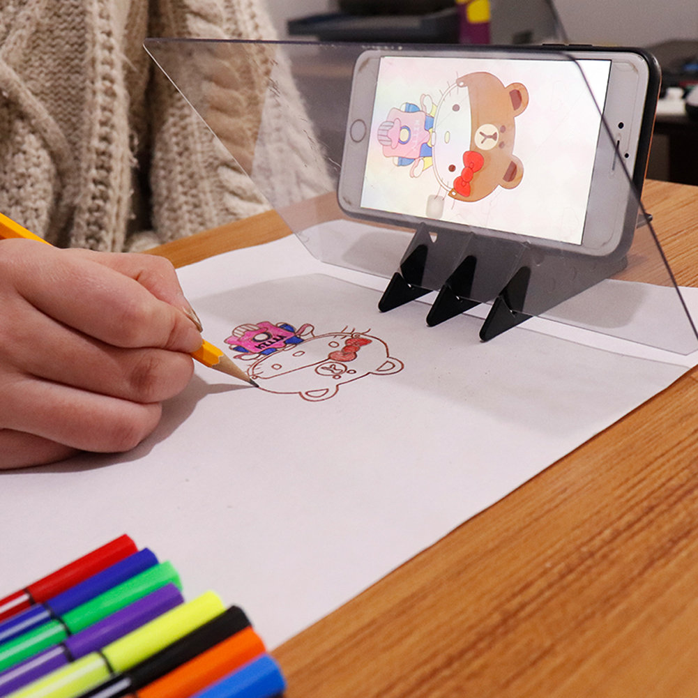 Imaging Drawing Board Sketch Reflection Dimming Bracket Painting Mirror Plate Tracing Copy Table Projection Board Plotter