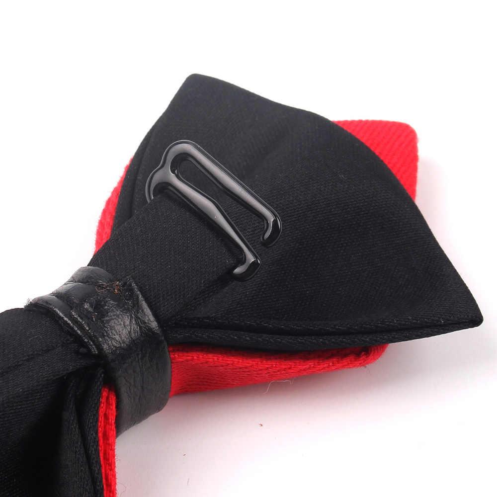 وأشار ربطة القوس فيونكة للرجال الكلاسيكية الصلبة ربطة العنق للرجال النساء الأعمال الزفاف Bowknot الكبار الرجال ربطة العنق Cravats الأصفر الأحمر التعادل