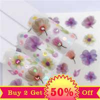 YWK eau Nail Art transfert ongles autocollants eau décalcomanies beauté fleur ongles conception manucure autocollants pour ongles décorations outil