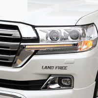 LED Headlight Strip for Toyota Land Cruiser 200 FJ200 2016 2017 2018 2019 Chrome ABS Daytime Running Light Accessories