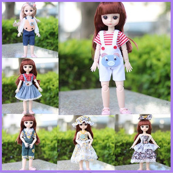 New BJD Doll Accessories 30cm Clothes Set Fashion Daily Casual Dress Up Children DIY Toys Gift for Girl