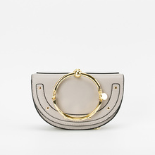 2019 Luxury Women Bag Brand Shoulder Bag Half Moon Handbag Fashion Crossbody Bag PU Leather Purse Ring Ladies Bag стоимость
