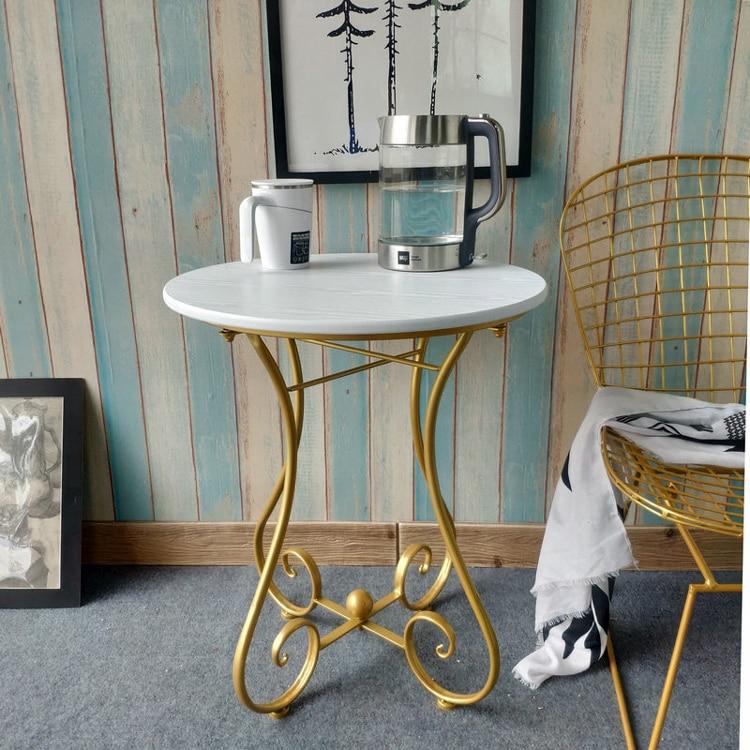 European Iron Small Round Table Sofa Side Table Журнальный стол  Modern Simple Leisure Balcony Mini Coffee Table