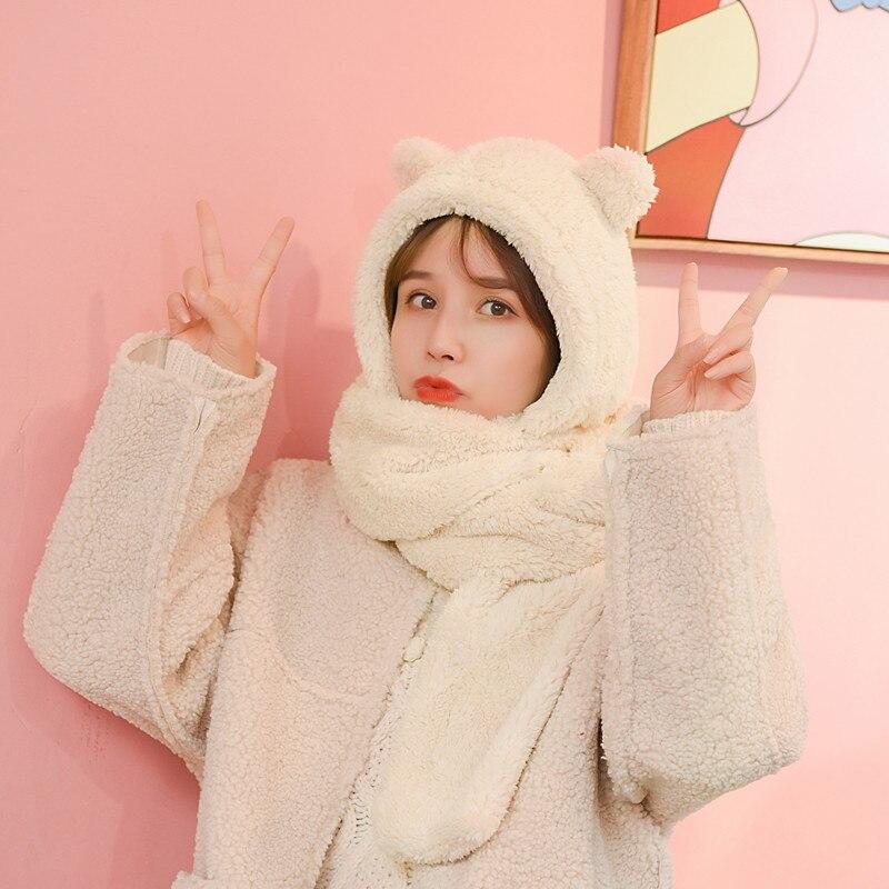 Cartoon Funny White Polar Bear I Need Hug Cute Fashion Lady Shawls,Comfortable Warm Winter Scarfs Soft Cashmere Scarf For Women