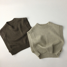 Outfit Sweaters Waistcoats Baby Clothing Knitted Spring Solid Vests 1-6Y Korean Kids