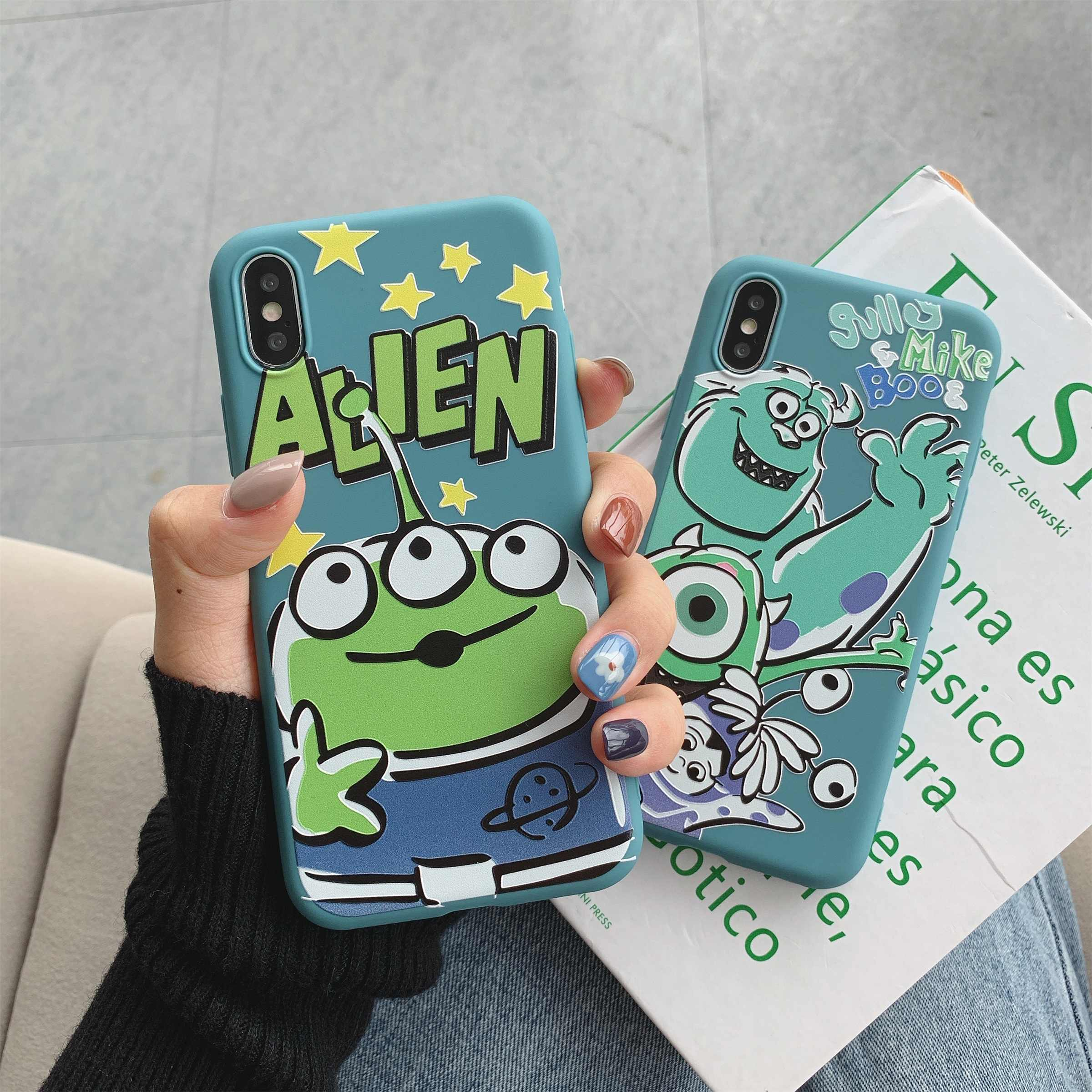 Big Eye Alien Mike ins Trend Matte Candy TPU Mobiele Telefoon Case Cover Voor iPhone11PRO MAX 6 7 8plus XS MAX XR Capa Fundas Conques