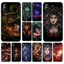 The sexy and beautiful witch medusa Soft TPU Case Cover for Apple iPhone 6 6S 7 8 Plus 5 5S SE X XS MAX XR Silicone Cases(China)