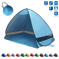Portable Folding beach tent Pop up Automatically set up camping beach tent quickly open outdoor Family Tent UV50+ 200*120*130CM