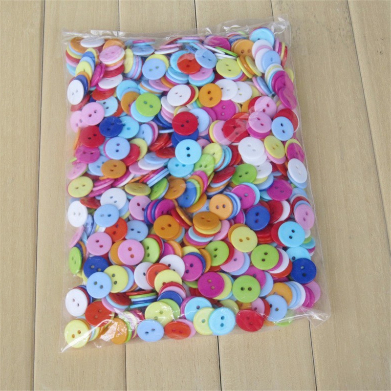 150PCs Multicolor Straw Hat Shape 2-Hole Wooden Buttons Scrapbooking Sewing