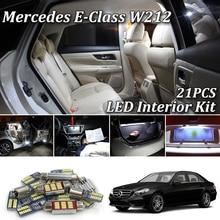 21X белые светодиодные с CANBUS салона автомобиля Комплект ламп для Mercedes Benz E class W212 светодиодные фонари интерьера 2009
