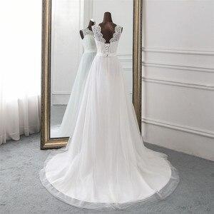 Image 5 - 새로운 Applique 웨딩 드레스 정장 가운 mariage Vestidos 드 Novia 신부 드레스 vestido 드 페스타 비치 웨딩 드레스