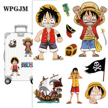 A4 Anime Stickers  2019 ONE PIECE Luffy Stickers for Car Laptop PVC Backpack Home Decal Pad Bicycle PS4 Waterproof Decal a0023 superman logo dream anime kids recognition toy stickers for diy car laptop skateboard pad bicycle ps4 phone decal trunk