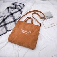 Cord Tote Tasche Frauen Schulter Taschen 2021 Shopper Taschen Mode Große Kapazität Einfarbig Bestickt Buchstaben Designer Handtaschen