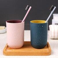 Waschen Tassen Zahnbürste Tasse Box Multifunktions Zahn Becher PP Weizen Waschen Zahn Tasse Pinsel Halter Home Bad Zubehör