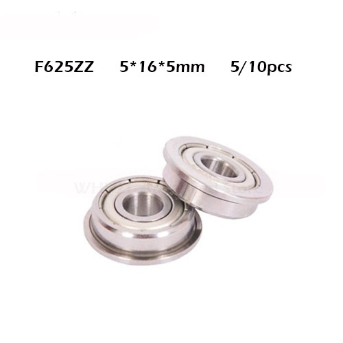 5/10PCS Bearing F625ZZ RF1650ZZ 625 625ZZ 5mmx16mmx5mm Miniature Double Sealing Cover Deep Groove Ball