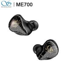 Shanling ME700 1DD + 4BA Vijf Hybrid Driver In-Ear Oortelefoon Iem Triple-Boring Ontwerp 3D Gedrukt Shell mmcx Octa-Core Kabel