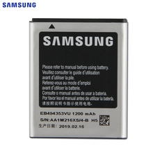 SAMSUNG Original Replacement Battery EB494353VU For Samsung GT-S5570 S5232 S5330 C6712 S5750 i559 S5570 Authentic