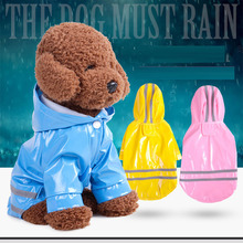 PU reflective pet raincoat Dog clothes spring and summer multi-style multi-color dog hooded