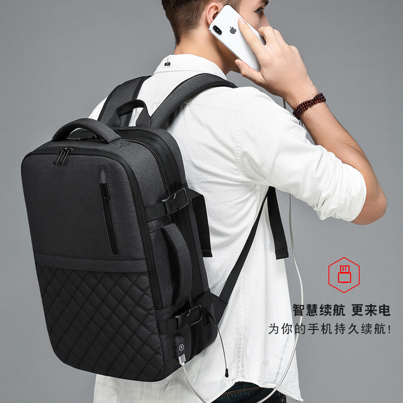 2020 New Backpack Men's Large Capacity Business Trip Backpack Fashion Leisure Travel Bag 15.6 Inch Computer Backpack