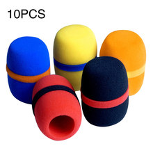 10pcs KTV Headset Windscreen Studio Foam Thickened Cap Dust Proof Replacement Microphone Cover Accessories Soft Sponge Handheld(China)