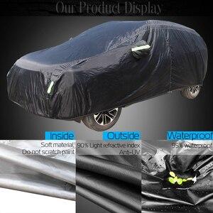 Image 2 - Cawanerl 防水車カバー屋外太陽抗 UV 雨雪にくいシーズン適切な自動 SUV ハッチバックセダン用カバー