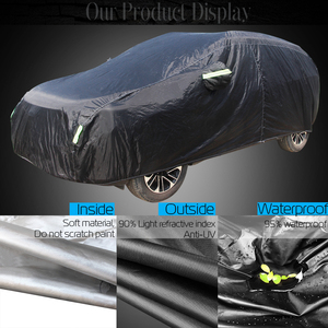 Image 2 - Cawanerl wodoodporna osłona na samochód na zewnątrz słońce anty UV deszcz odporny na śnieg cały sezon nadaje się Auto pokrowce na SUV hatchback sedan