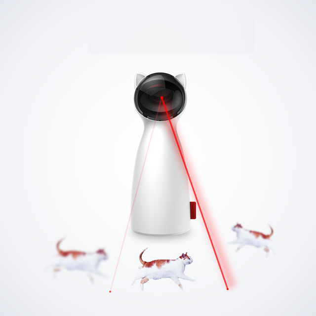 Automatic Cat Toy teaser laser LED cat toys kitten Interactive Training Entertaining Toy Multi Angle Adjustable USB Charge