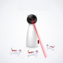 Automatico Gatto Giocattolo rompicapo laser LED giocattoli del gatto gattino Interattiva Formazione Divertente Giocattolo Multi Angolazione Regolabile Carica USB
