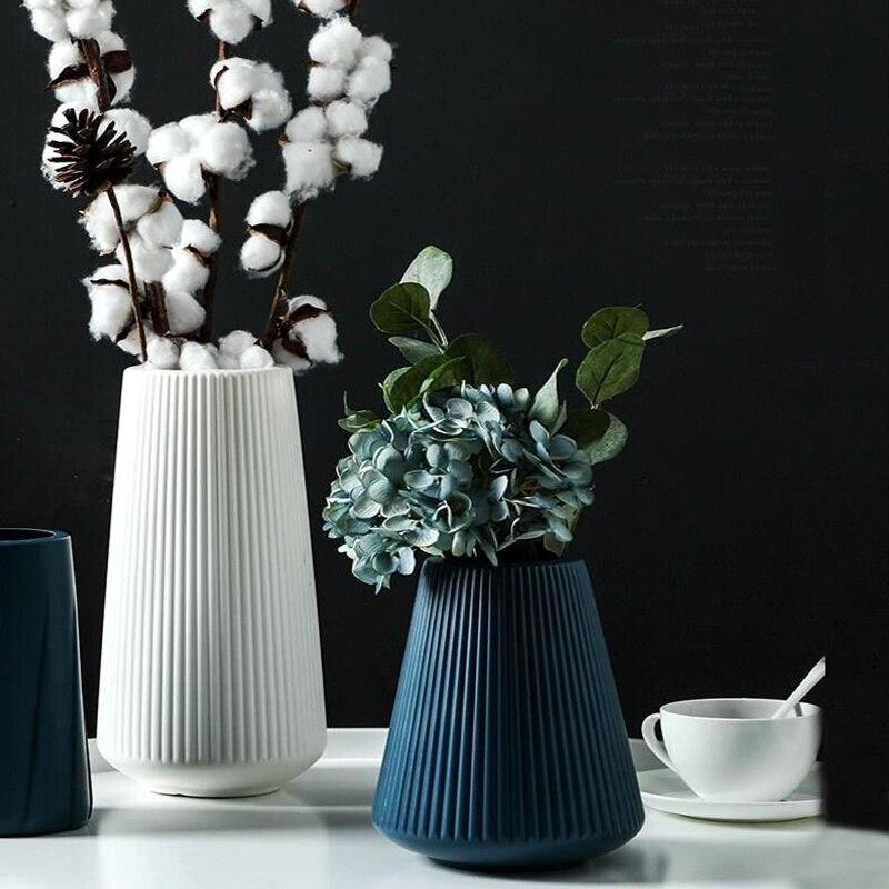 Европейские стильные вазы, украшения для дома, антикерамическая ваза, пластиковые небьющиеся Свадебные украшения для гидропонных растений, креативные|Вазы|   | АлиЭкспресс