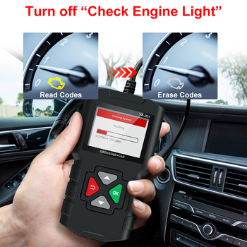 Error Code Reader YA201 Automotive Diagnostic Tool OBDII EOBD Check Engine Light Lifetime Free Update PK CR3001 Car OBD2 Scanner launch x431 cr3008 obd2 automotive scanner obdii code reader diagnostic tool check engine battery voltage free update pk kw850
