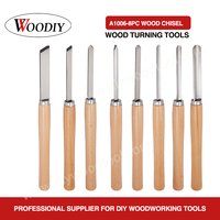 WOODIY 8PC High Speed Steel Wood Turnning Tools Wood Turning Lathe Chisel Set
