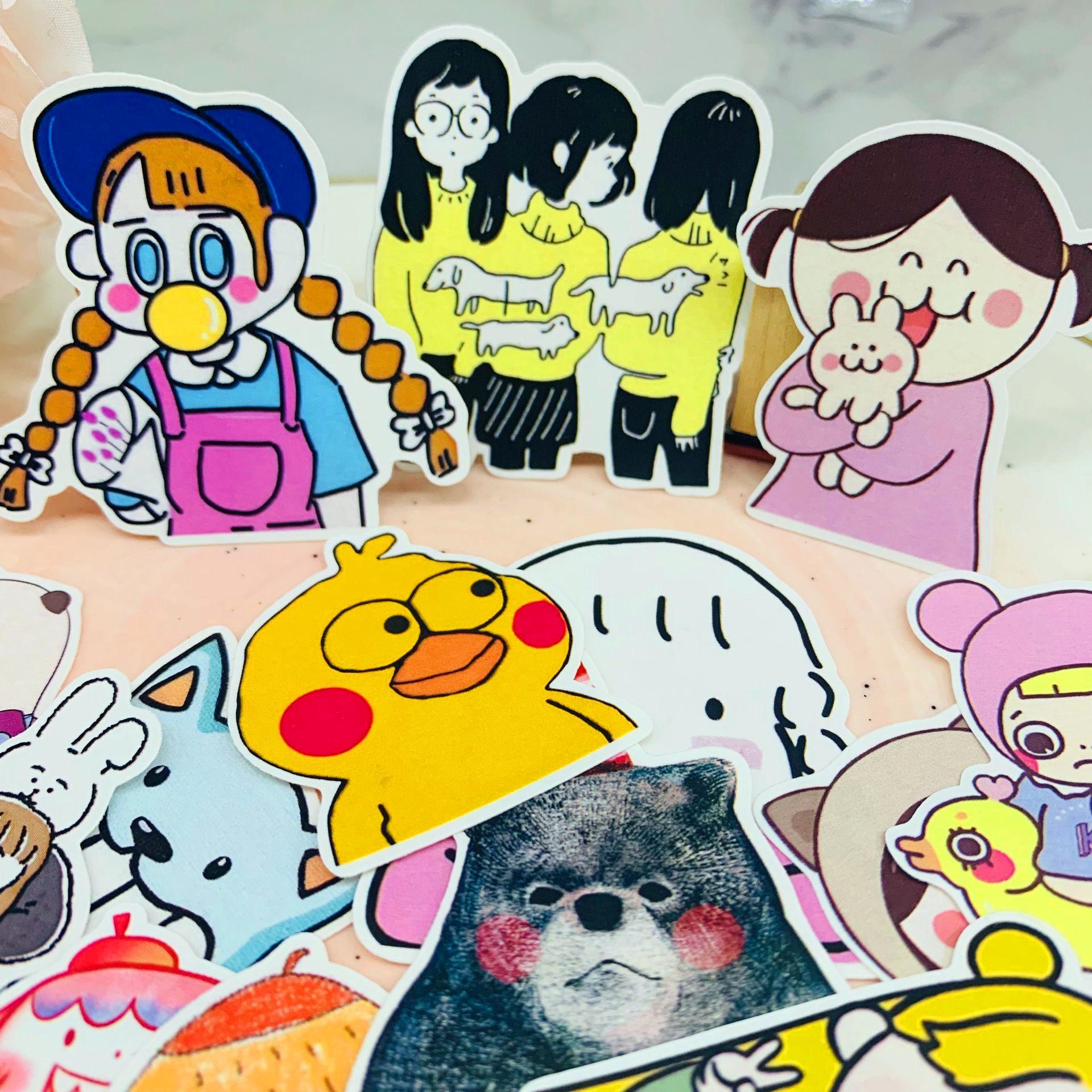 25 pçs bonito dos desenhos animados menina animal scrapbooking adesivos livro estudante crianças brinquedos notebook etiqueta decorativa papel de papelaria