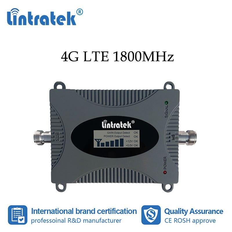 Lintratek 4G DCS 1800MHz Mobile Phone Signal Booster Cellular Internet Communication Amplifier Mini Size 1800 LCD