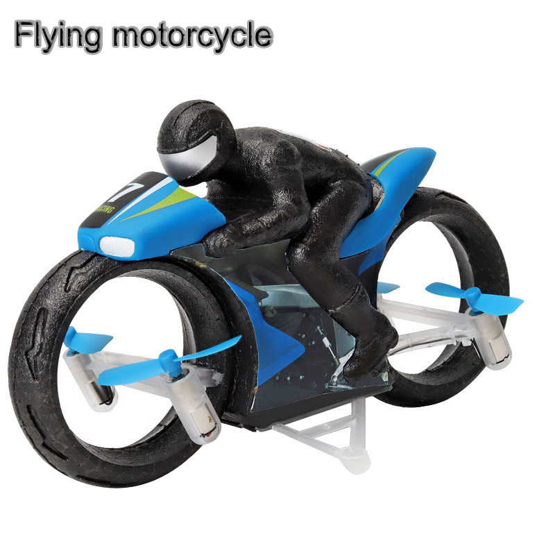 RC Drone Flying Motorcycle Drone Ground & Flight Dual Mode Flying Motorbike Remote Control Car Quadcopter Kids Toys Gifts