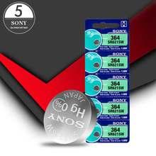 Bateria de relógio 5 peças, para Sony 621 AG1 LR621 364A 1.5V LR60 sr621sw óxido de prata botão célula de bateria para assistir calculadora eletrônica
