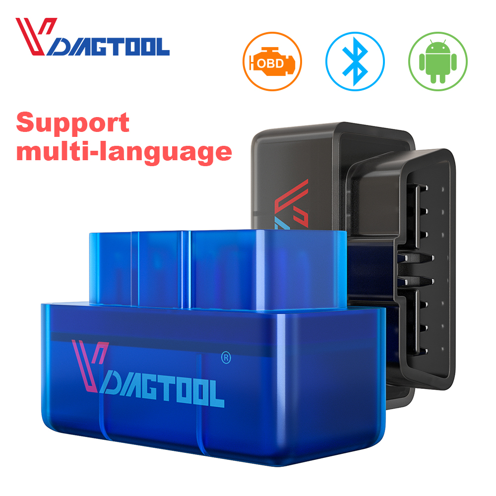 VDIAGTOOL ELM 327 OBD2 Car Diagnostic Scanner Tool ELM327 V1.5 Bluetooth Wifi Interface OBDII For Android IOS Code Reader Pakistan