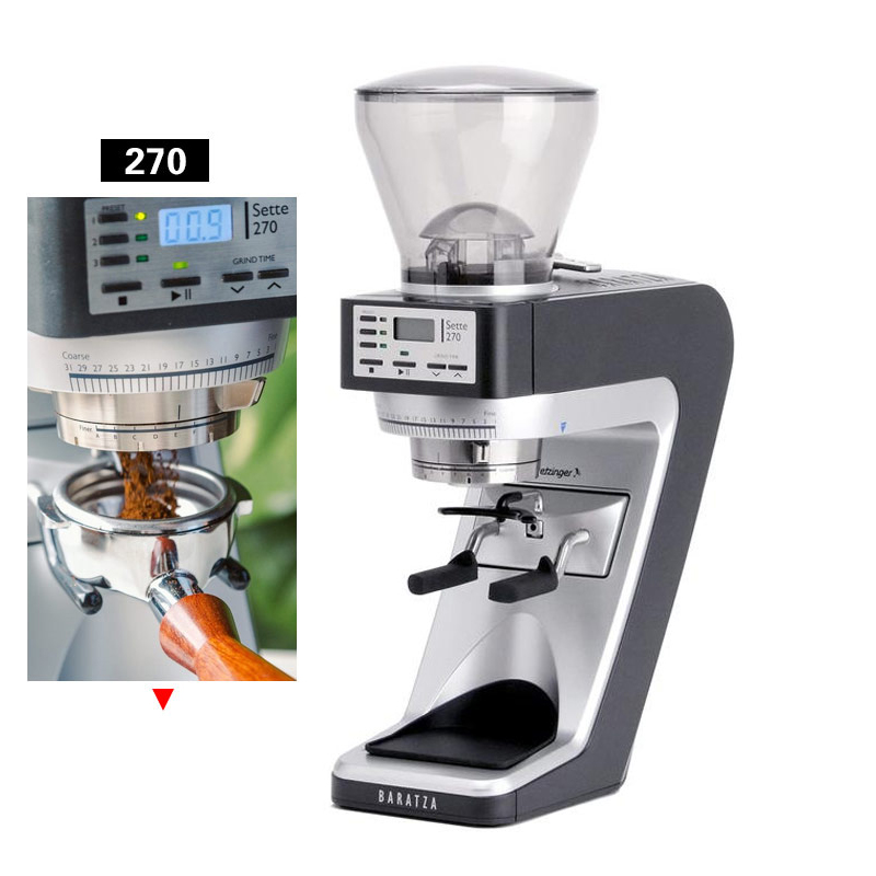270 Italian Quantitative Bean Grinder Electric Coffee Bean Grinder Household And Commercial Timing Mill 220V 1pc