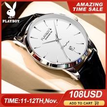 Play boy Men Mechanical Watch Sapphire Glass Luxury Automati