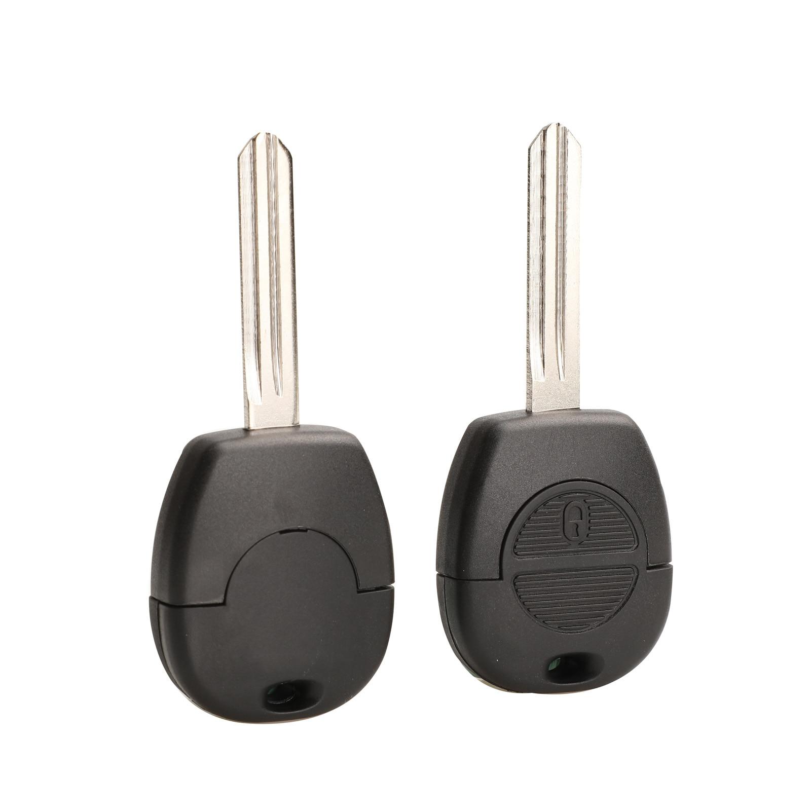 2 Button Remote Flip Fob Car Key Shell for Nissan Micra Almera Primera X-Trail Replacement Uncut Blade Car Key Case Cover