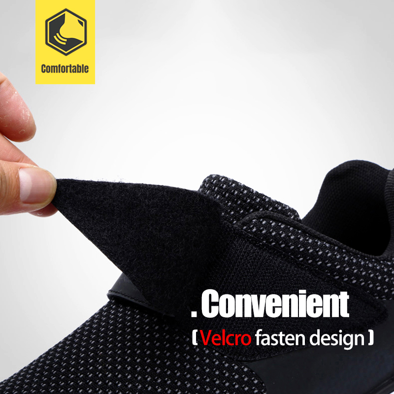 MODYF chaussures de sécurité pour hommes en acier orteil Construction chaussures de protection léger antichoc travail chaussures de sport pour hommes - 4