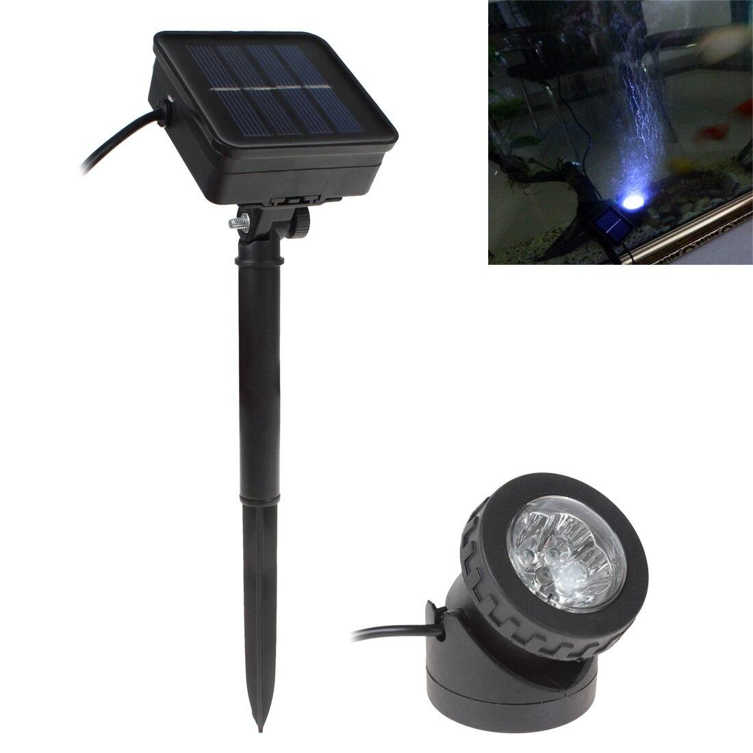 a prova dwaterproof agua solar powered led spotlight spot light lampada jardim piscina lagoa ao ar