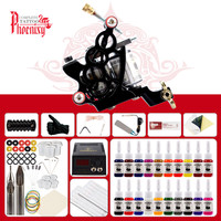 Beginner Tattoo Kit Tattoo Tools and Accessories Tattoo Machine Gun Tattoo Pigment Power Supplies Permanent Body Art Tattoo Set